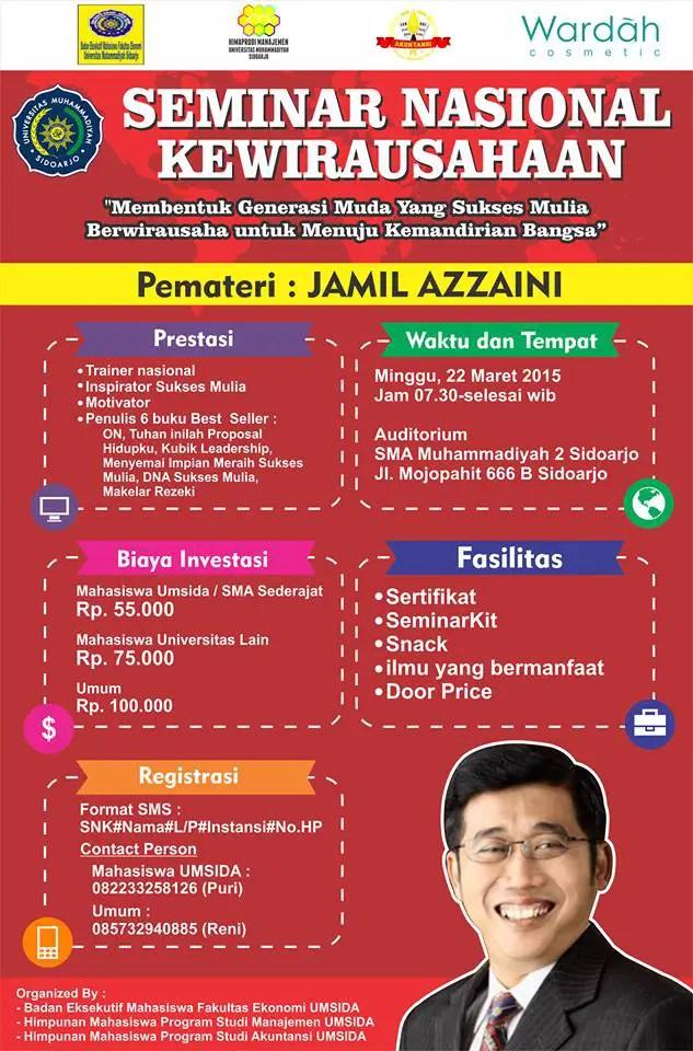Event : Seminar Nasional Kewirausahaan Jamil Azzaini