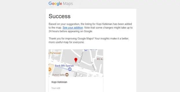 Google maps - kopi