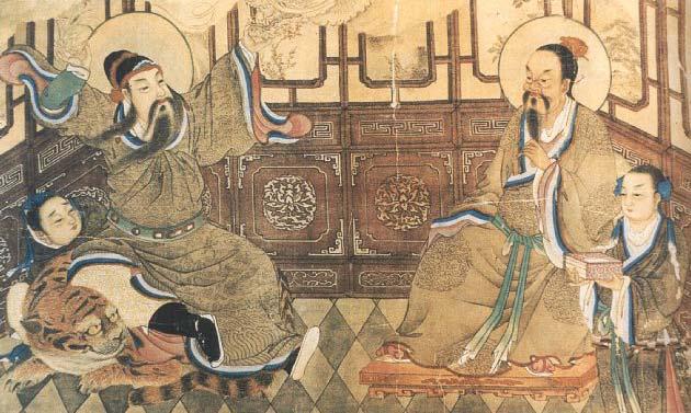 Peinture du XIXe siècle représentant Sun Simiao