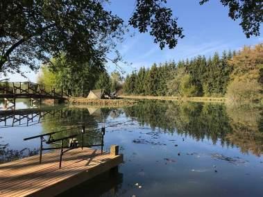 Carp Fishing lake at Etang St Pierremont France