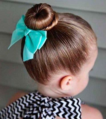 Easy Girl Hairstyle Traditional Bun