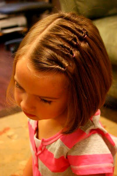 Girl hairstyle Mini inverted pigtails