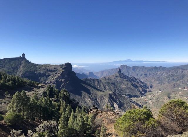 Ausblick auf Caldera de Tejeda beim Fernwandern