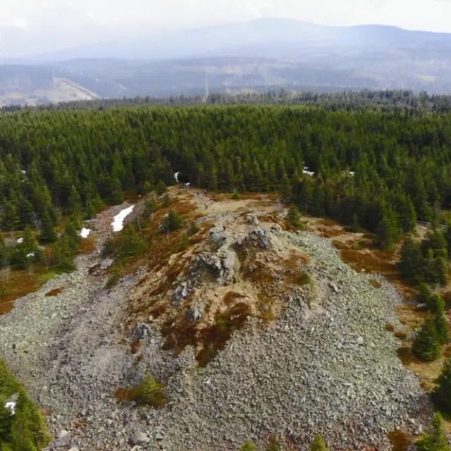 Wolfswarte im Harz - aufgenommen mit der Drohne
