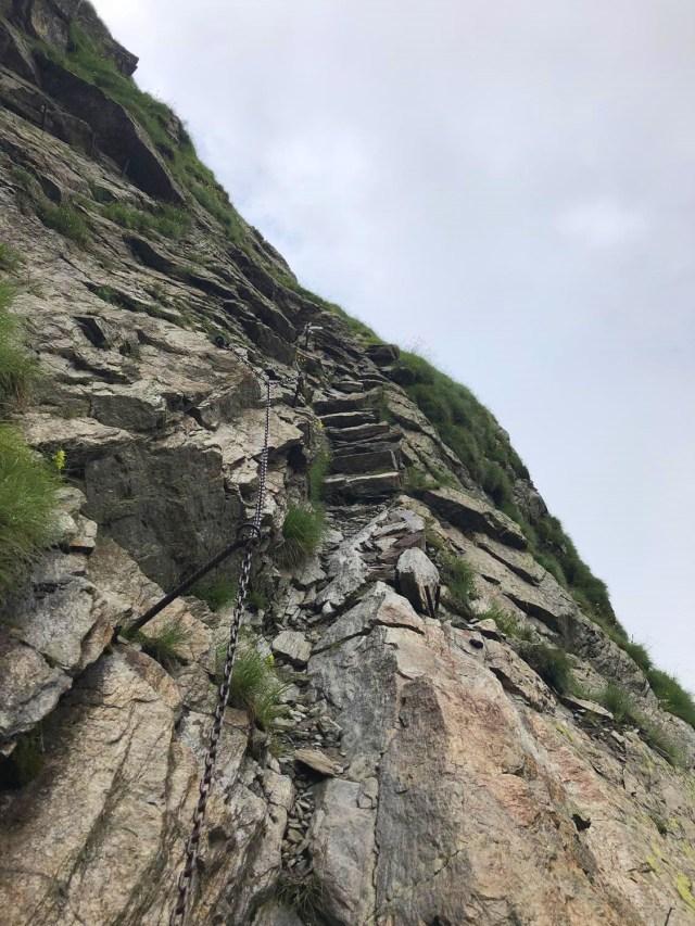 Weg zur Hochgangscharte bei der Rundwanderung Spronser Seen