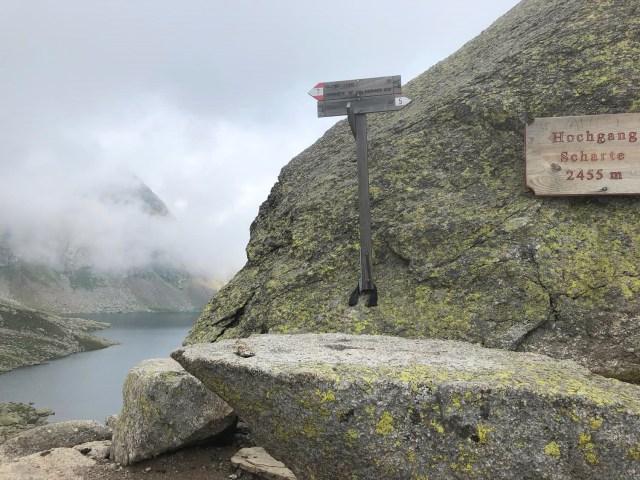 Hochgangscharte auf der Rundwanderung Spronser Seen