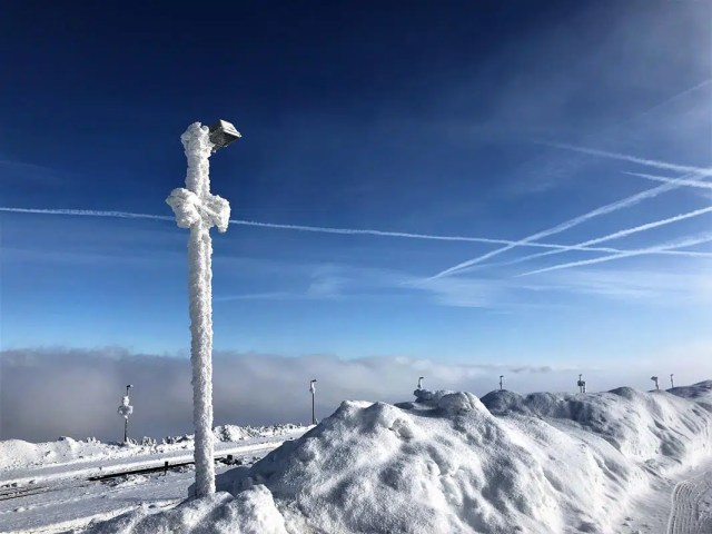 Im Winter auf dem Brocken