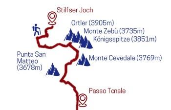 erste 5 Etappen Sentiero della Pace
