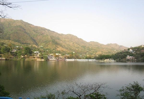 panoramic view of Bhimtal