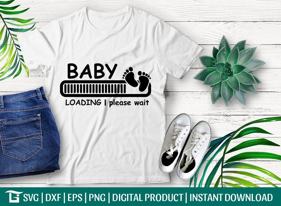 Baby Loading SVG | Baby Announcement SVG | T-shirt Design