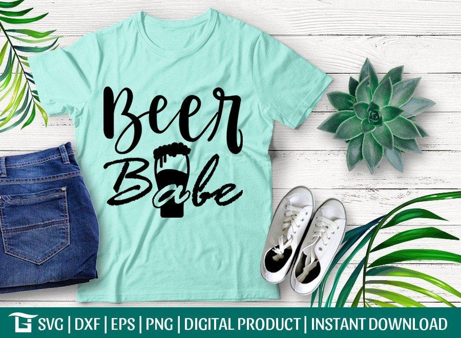 Beer Babe SVG   Beer Girl SVG   T-shirt Design