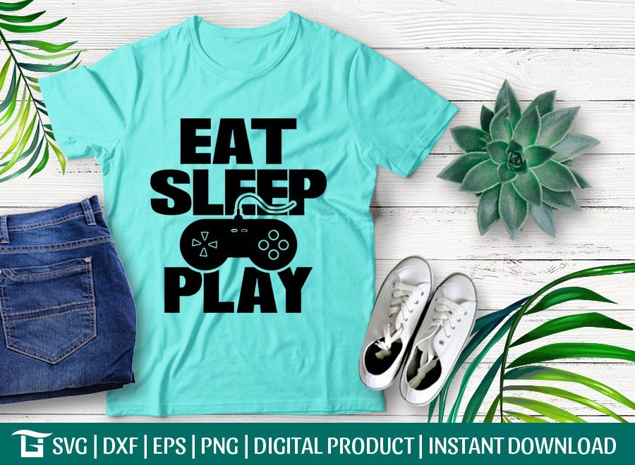 Eat Sleep Play SVG | Game SVG | T-shirt Design