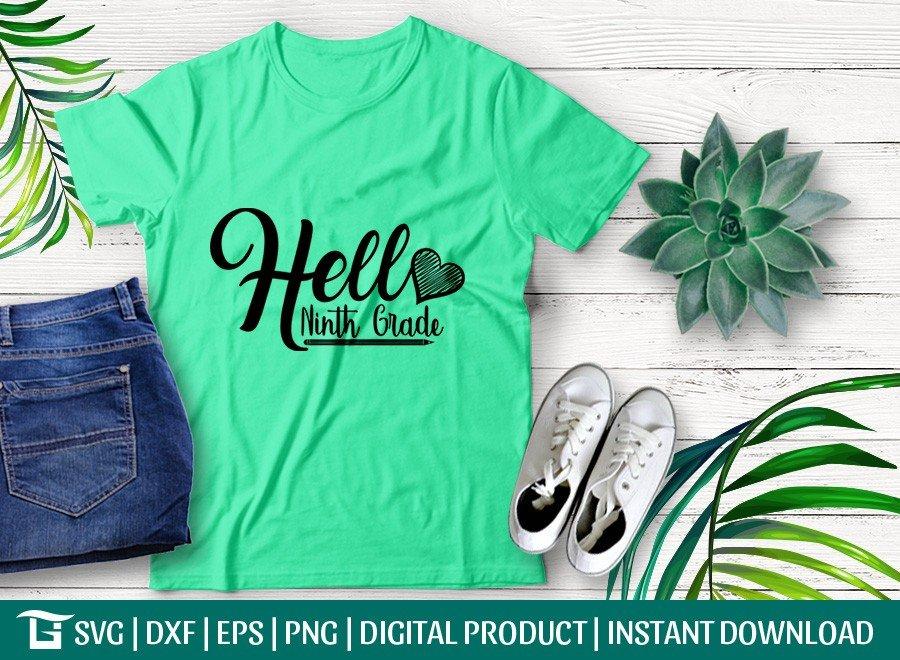 Hello Ninth Grade SVG | Back To School SVG T-shirt Design