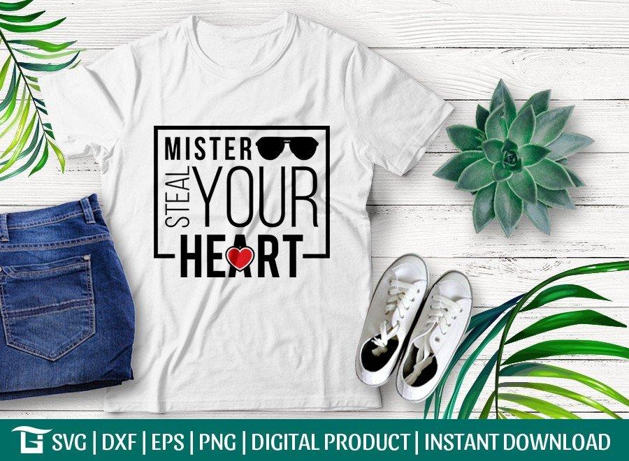 Mister Steal Your Heart SVG | Boy Infant SVG | T-shirt Design