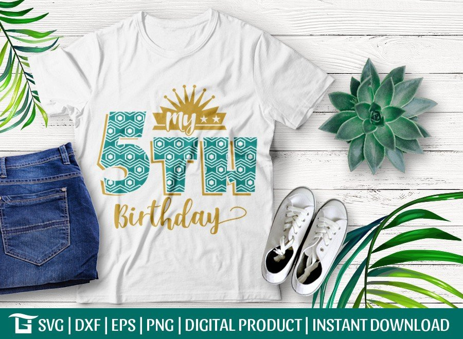 My 5th Birthday SVG | Birthday Party SVG