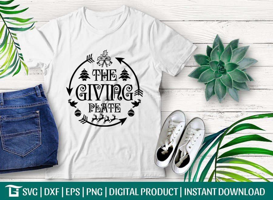 The Giving Plate SVG | Christmas SVG | T-shirt Design