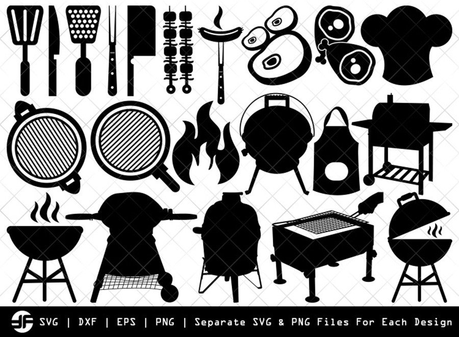 Barbecue SVG | BBQ SVG | Silhouette Bundle | SVG Cut File