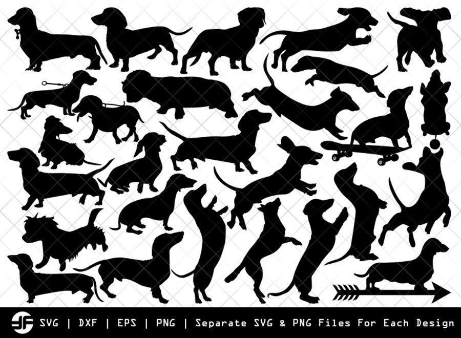 Dachshund Dog SVG | Animal | Silhouette Bundle | Cut File