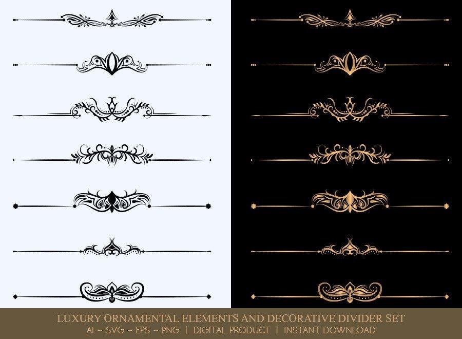 Luxury Decorative Divider Set SVG Cut Files | DDS025