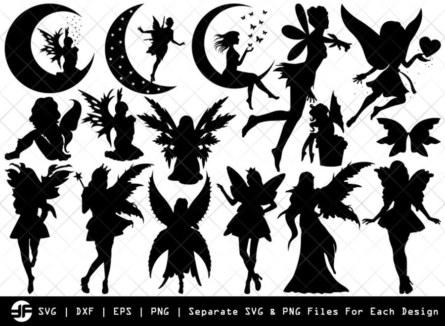 Fairy SVG | Disney SVG | Silhouette Bundle | SVG Cut File