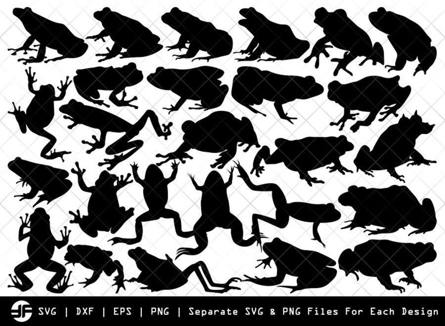 Frog SVG | Animal SVG | Silhouette Bundle | SVG Cut File
