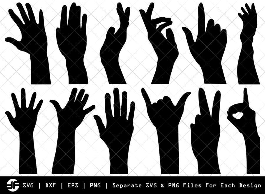 Generation Hands SVG | Silhouette Bundle | SVG Cut File