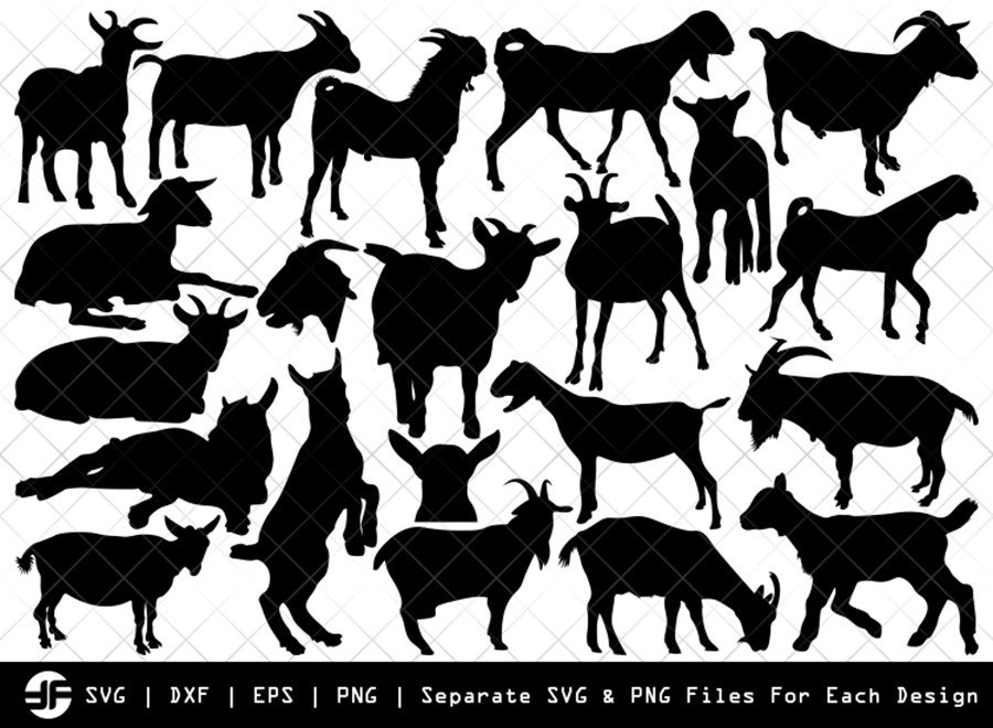 Goat SVG | Animal SVG | Silhouette Bundle | SVG Cut File