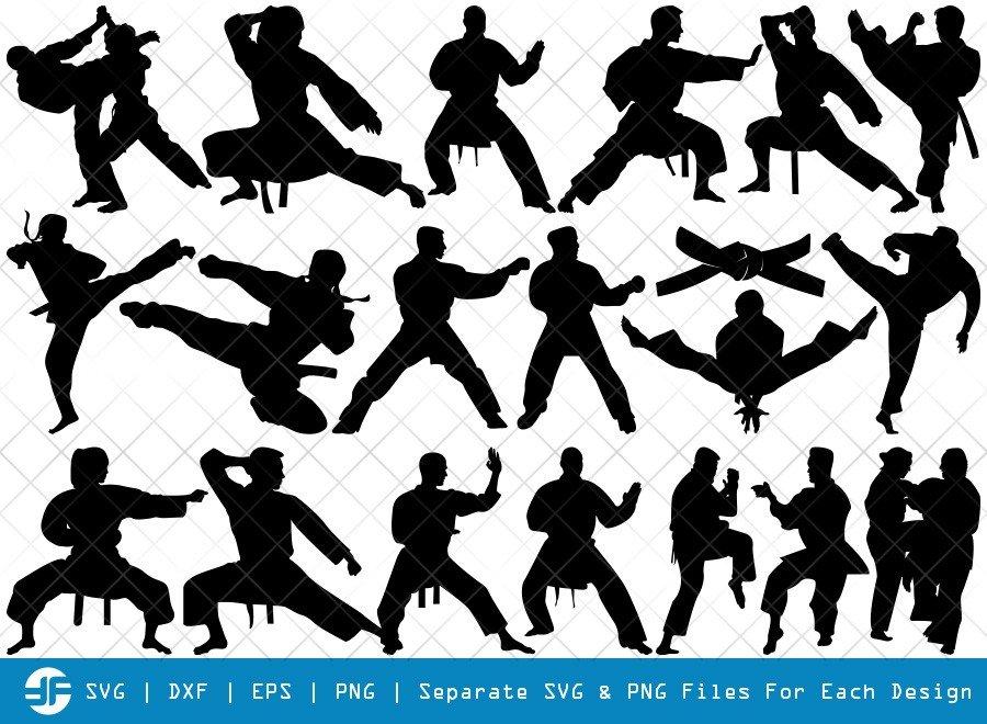 Karate SVG Cut Files | Martial Arts Silhouette Bundle