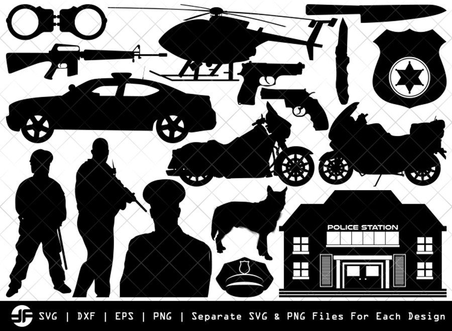 Police SVG | Police Silhouette Bundle | SVG Cut File