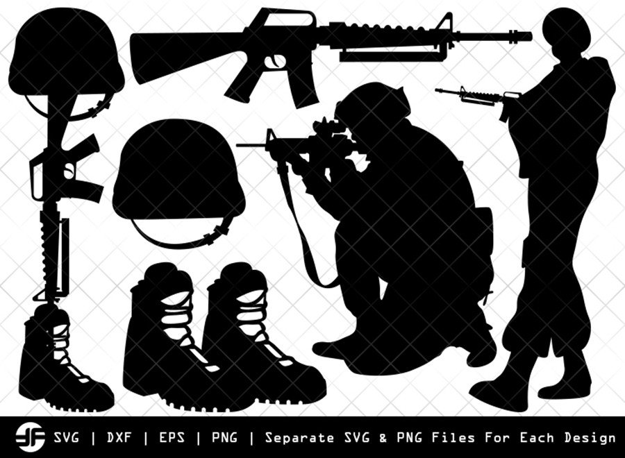Soldiers Stuff SVG | Soldiers Silhouette Bundle | SVG Cut File