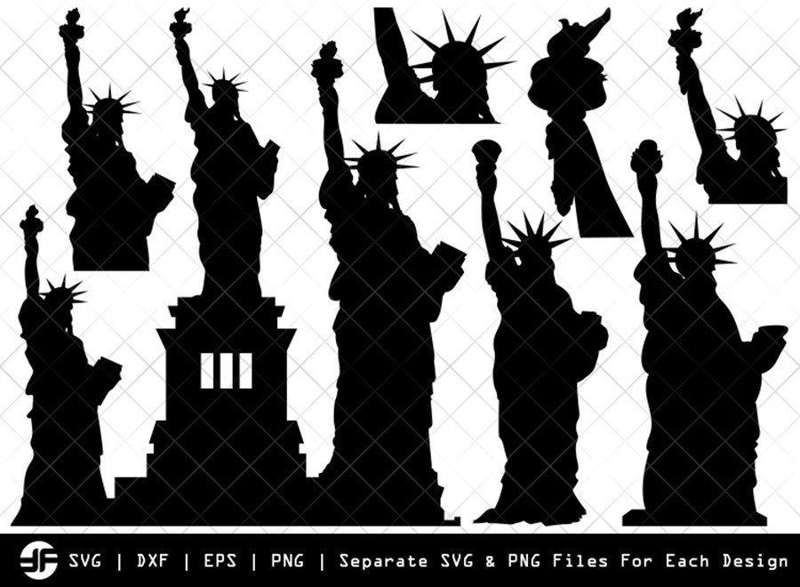 Statue Of Liberty SVG | Silhouette Bundle | SVG Cut File