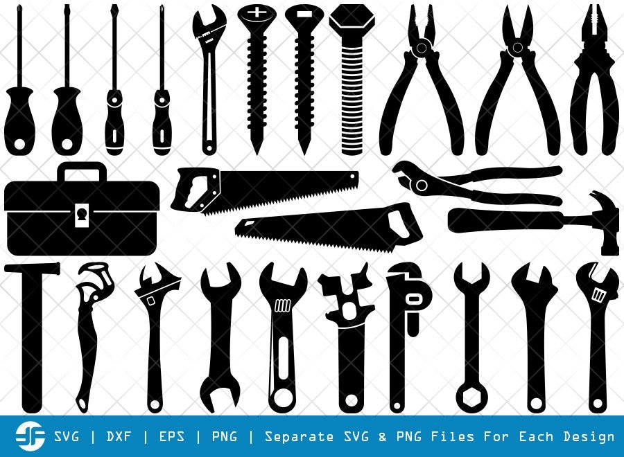 Tools SVG Cut Files | Tool Box Silhouette Bundle