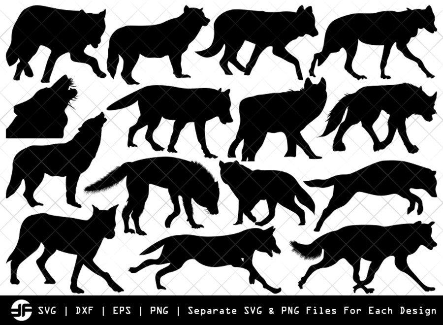 Wolf SVG | Animal SVG | Silhouette Bundle | SVG Cut File