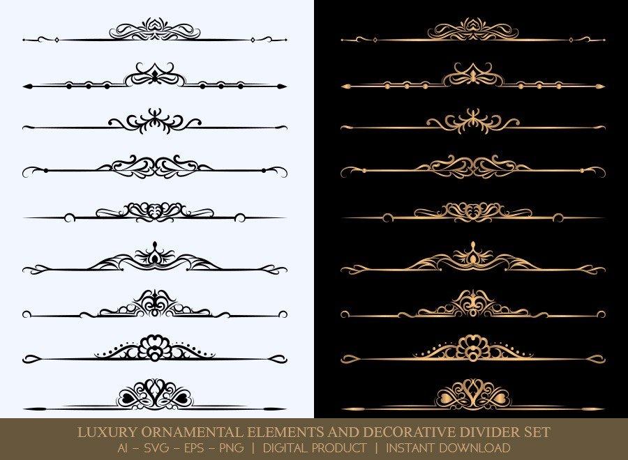 Luxury Decorative Divider Set SVG Cut Files | DDS030