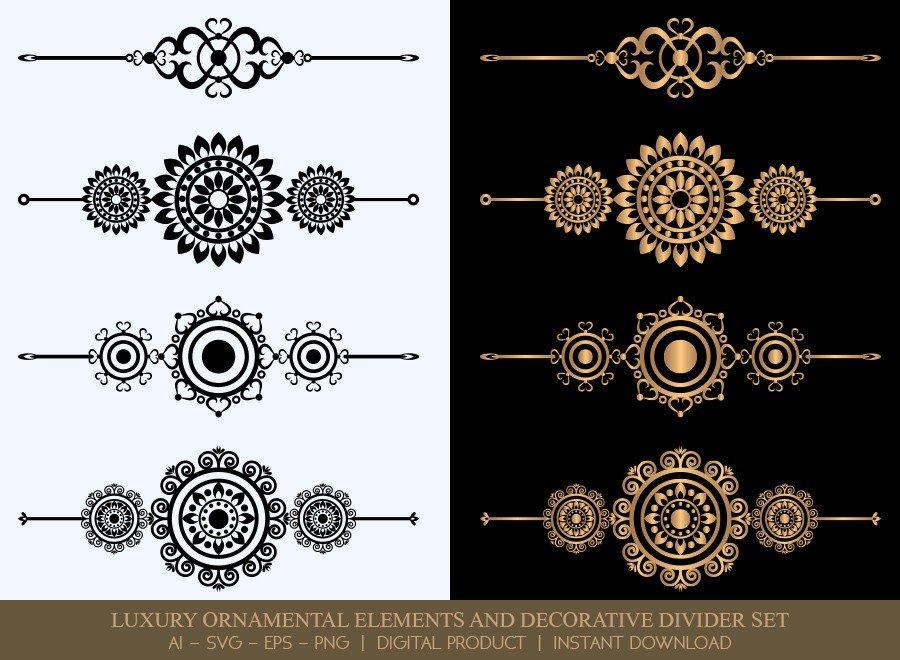 Luxury Decorative Divider Set SVG Cut Files | DDS055
