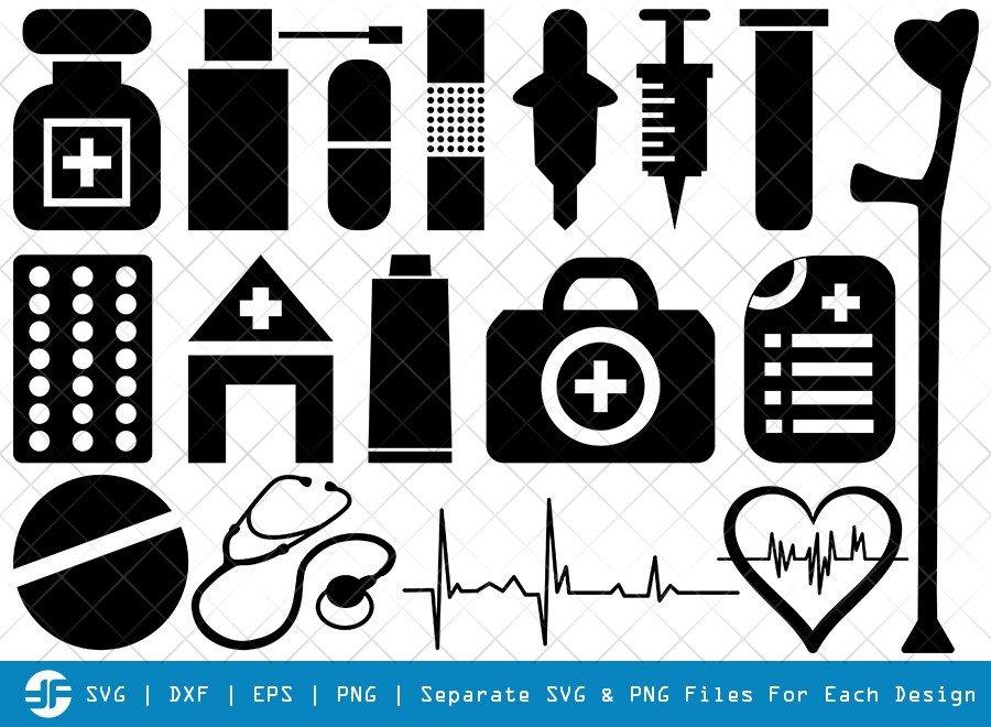 Medical Symbol SVG Cut Files | Hospital Symbol Silhouette
