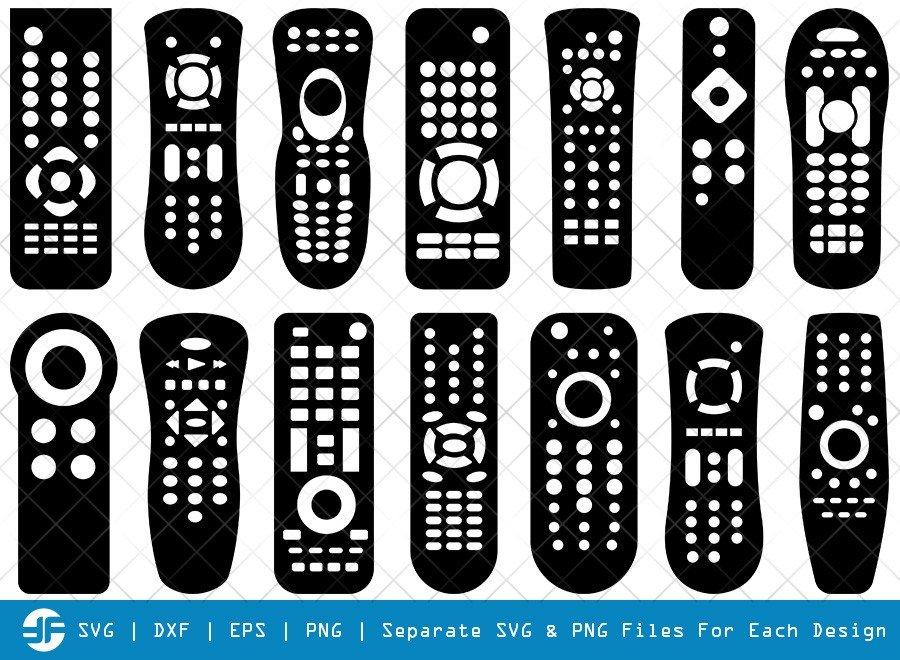 Remote Control SVG Cut Files | Remote Silhouette Bundle