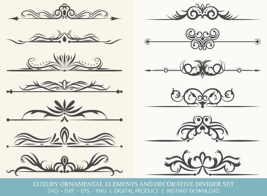 Luxury Ornament Divider Set SVG Cut Files | DDS003