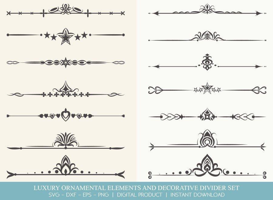 Luxury Ornament Divider Set SVG Cut Files | DDS0023
