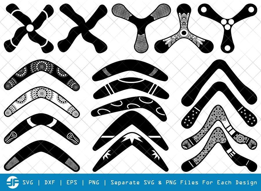 Boomerang SVG Cut Files   Boomerang Silhouette Bundle