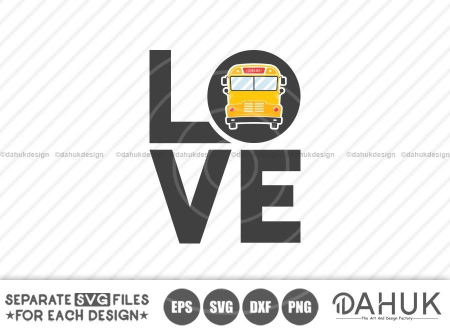 Love School Bus, Bus Boss svg, Back To School Design svg