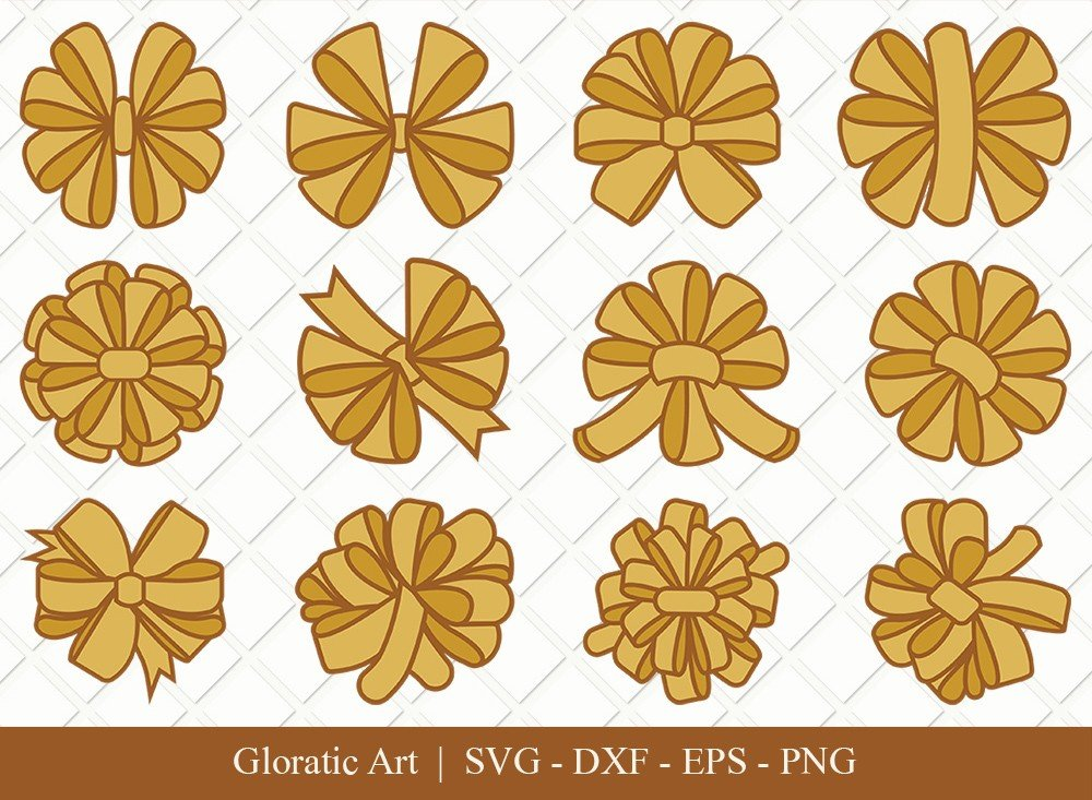 Bow Ribbon Clipart SVG Cut Files | Bow Svg | Bow Ribbon