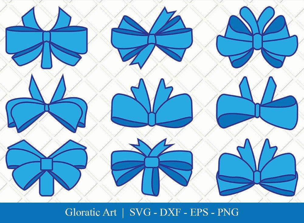 Bow Ribbon Clipart SVG Cut Files | Bow Svg | Bow Ribbon