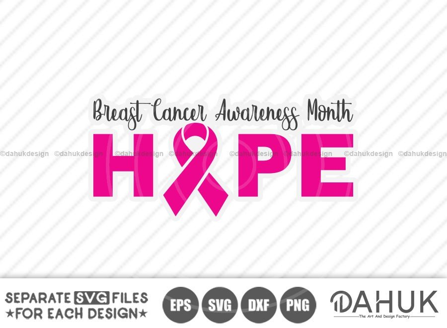 Hope Breast Cancer SVG, Breast Cancer Awareness Month