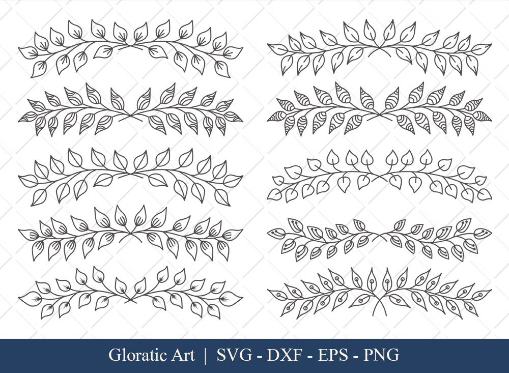Floral Text Divider SVG Cut Files | FTD002