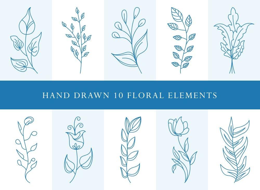 Flower Leaves Bundle SVG Cut Files | FLB005