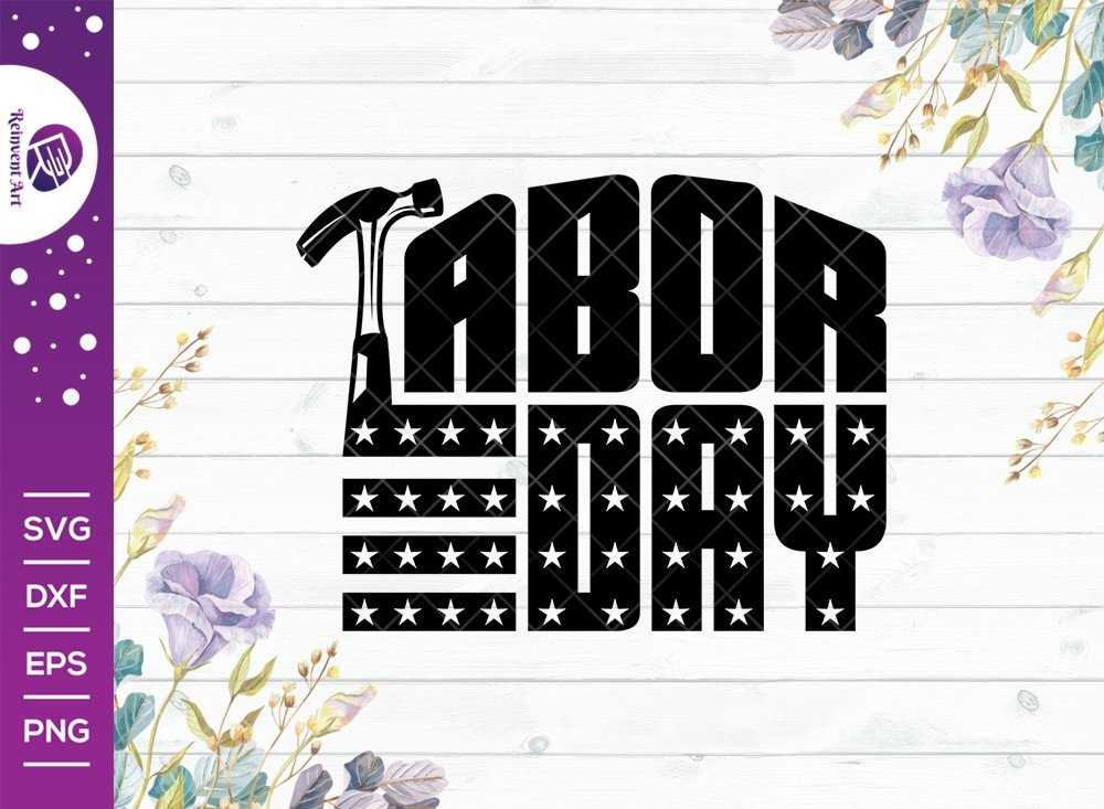 Labor Day SVG Cut File | American Holiday T-shirt Design