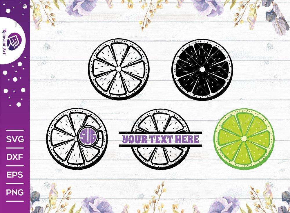 Lemon Slice SVG Cut File | Half Lemon Svg | Lime Svg |