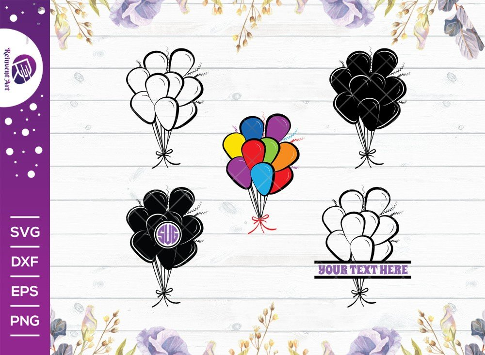 Balloon SVG Cut File | Party Balloon Svg | Hot Air Balloon