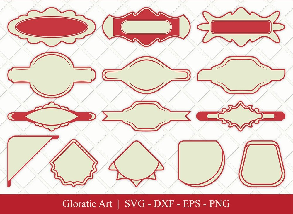 Name Tag Ribbon Clipart SVG Cut Files | Name Tag Svg